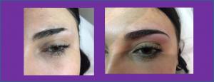 sourcils avant après maquillage permament